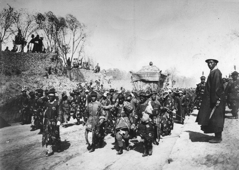 Empress Cixi's funeral procession