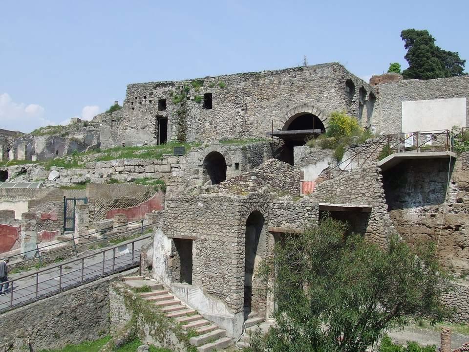 Pompeii - Porta Marina and the City Walls of Pompeii