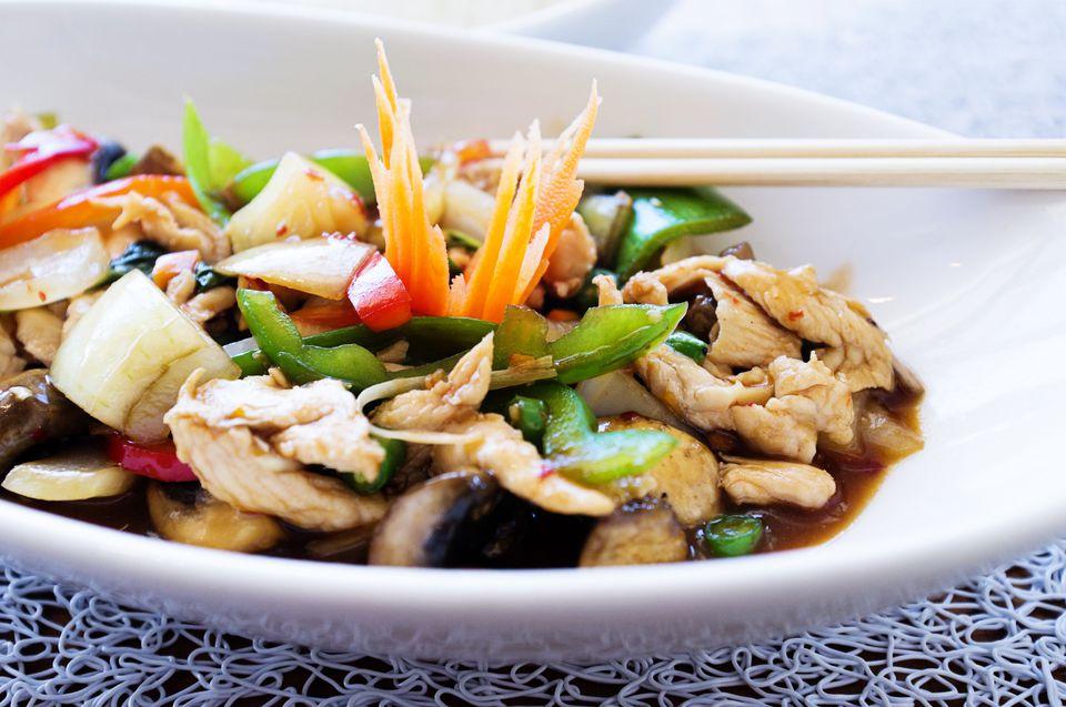 Thai lime chicken stir fry
