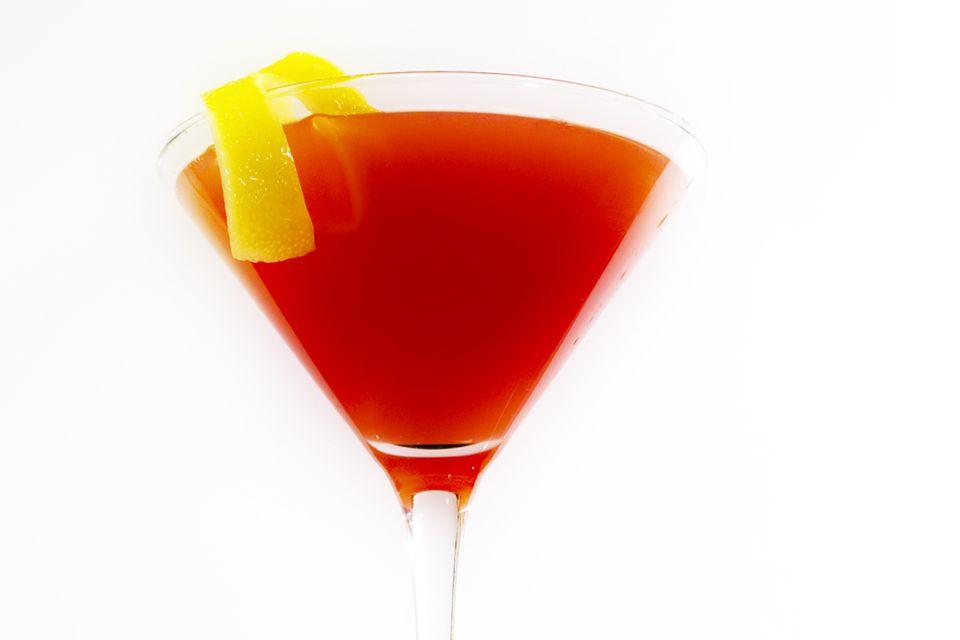 Mistletoe Martini with Cranberry Tea