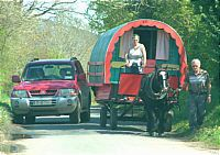 Gipsy Caravan in the Wicklow Mountains, Ireland