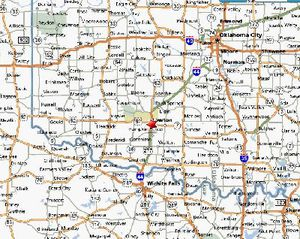 A map of Ft. Sill