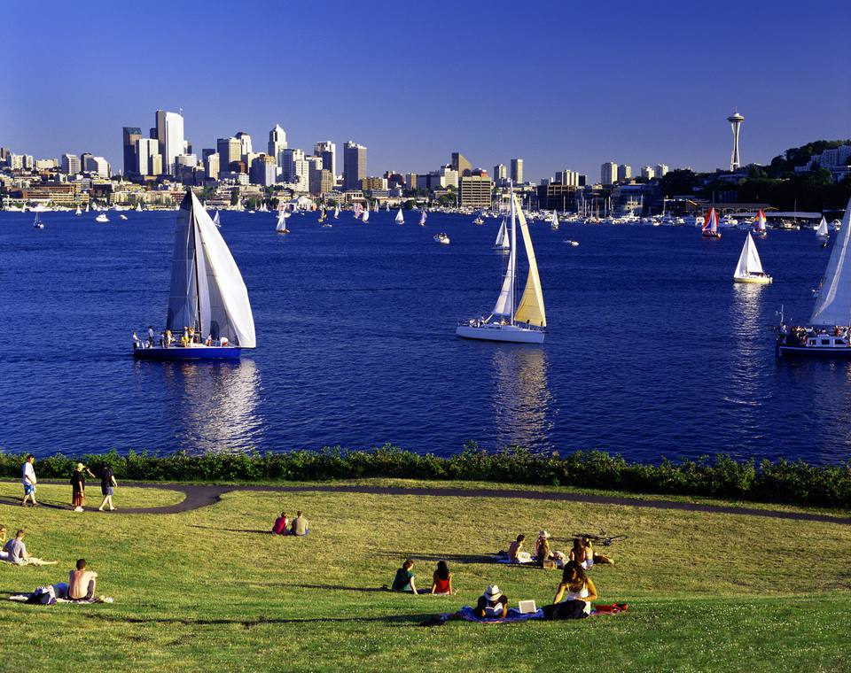 Boating on Lake Union in Seattle