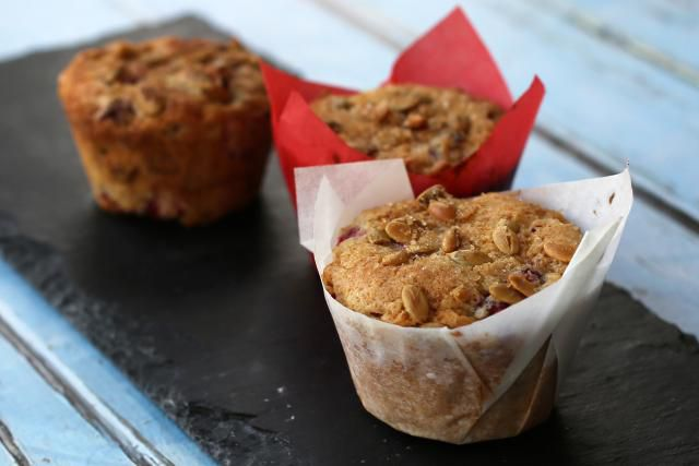 Cranberry Muffins With Pumpkin Seeds (Pepitas)
