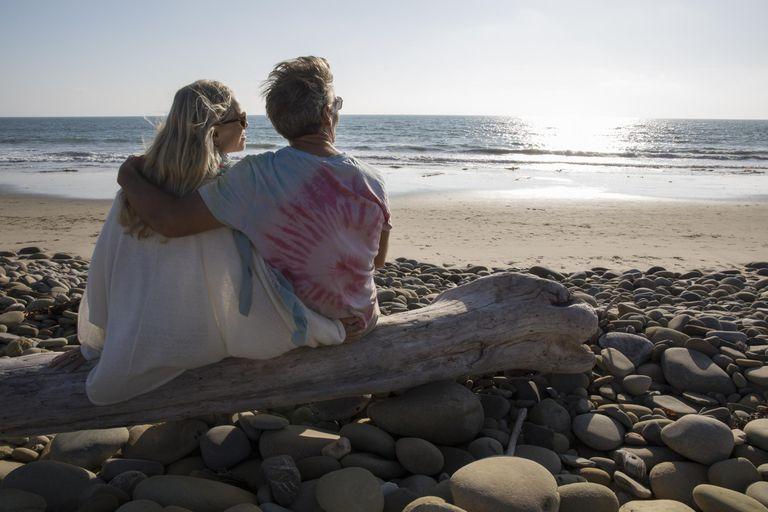 Couple Relaxing Near the Ocean