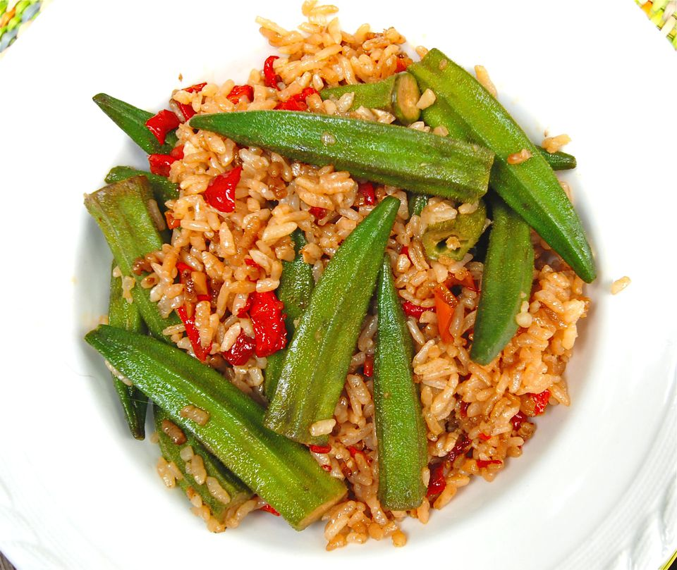 Fried Rice with Okra