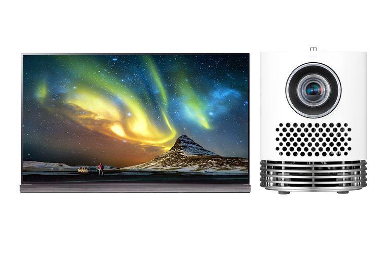 LG G7 Series OLED TV with LG HF80JA Projector