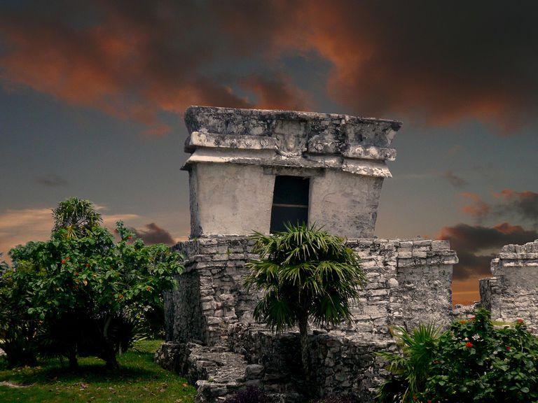 Ruins at Tulum, Mexico.