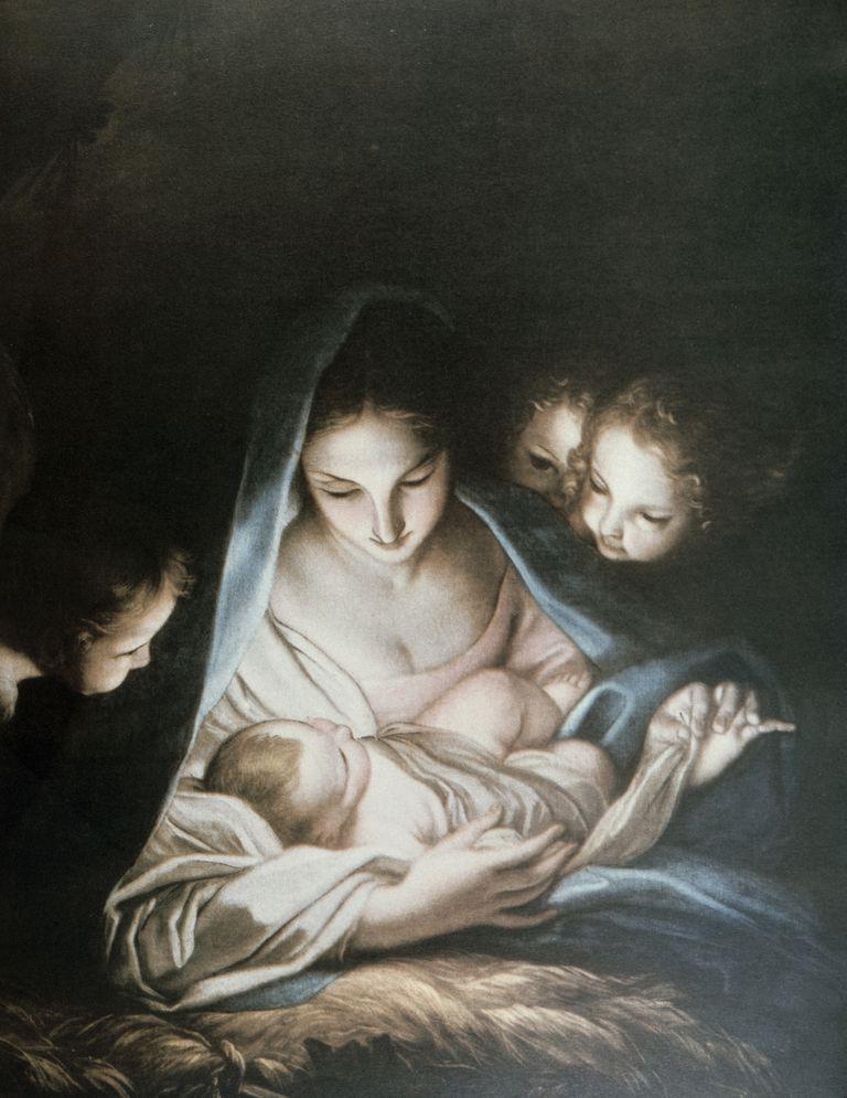 jesus manger angels