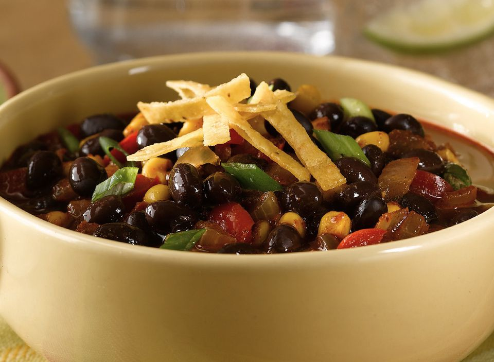 Black bean tortilla soup