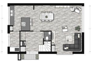 a great room designed in floorplanner - 2d Room Design