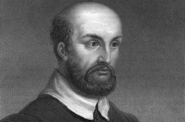 Portrait of Andrea Palladio (1508-1580) engraved in 19th century by R Woodman