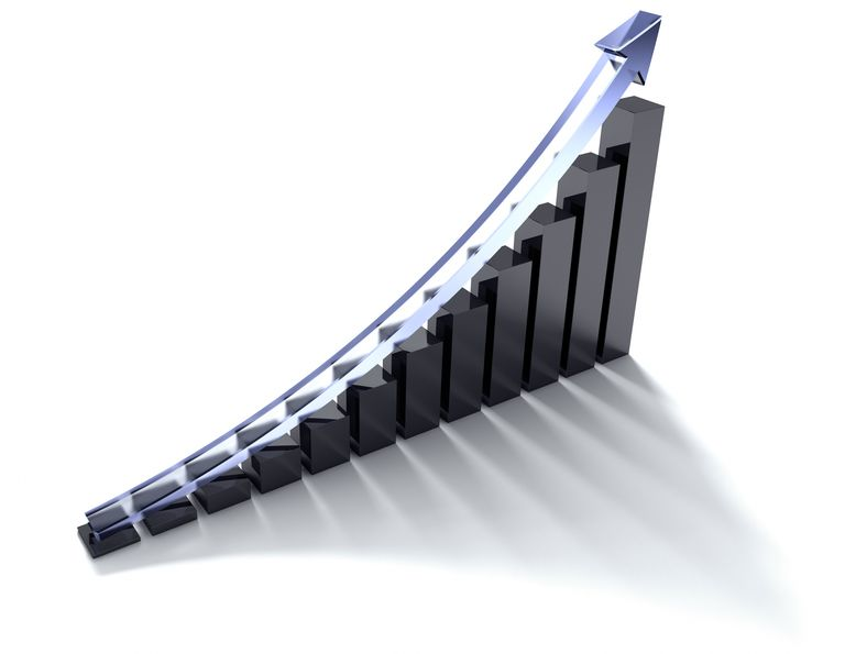 Examples of exponential growth may include investment value and home prices.
