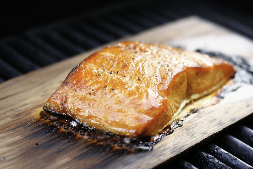 Salmon Grilled on Cedar Planks