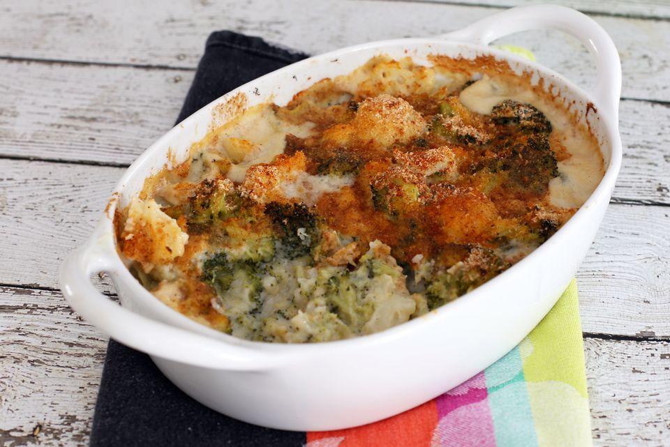 broccoli and cauliflower bake