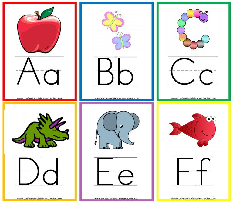 Monster image with alphabet printable flash cards