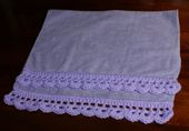 Hand Towel With Crocheted Edging