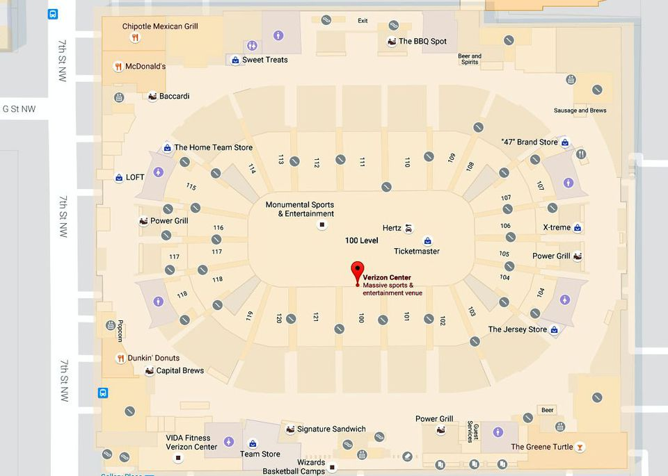 Capital One Arena Maps And Directions Washington DC - Us capitol interior map