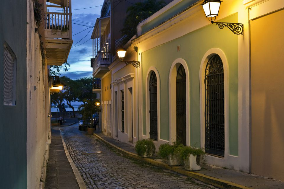Narrow street in Old San Juan
