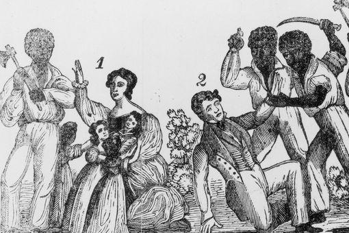 Illustration depicting violence of Nat Turner's Rebellion