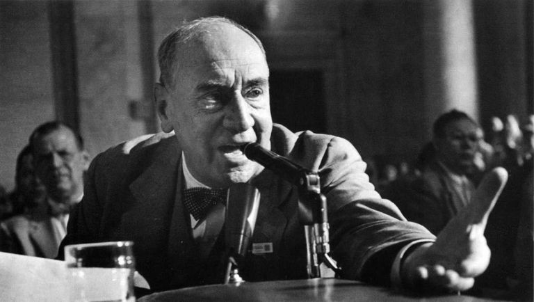 Image of Joseph N. Welch, head counsel for the U.S. Army at the Army-McCarthy Hearings, June 1954