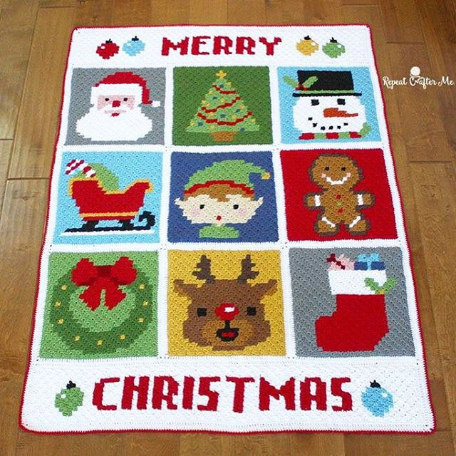 Crochet Christmas Blanket Pattern