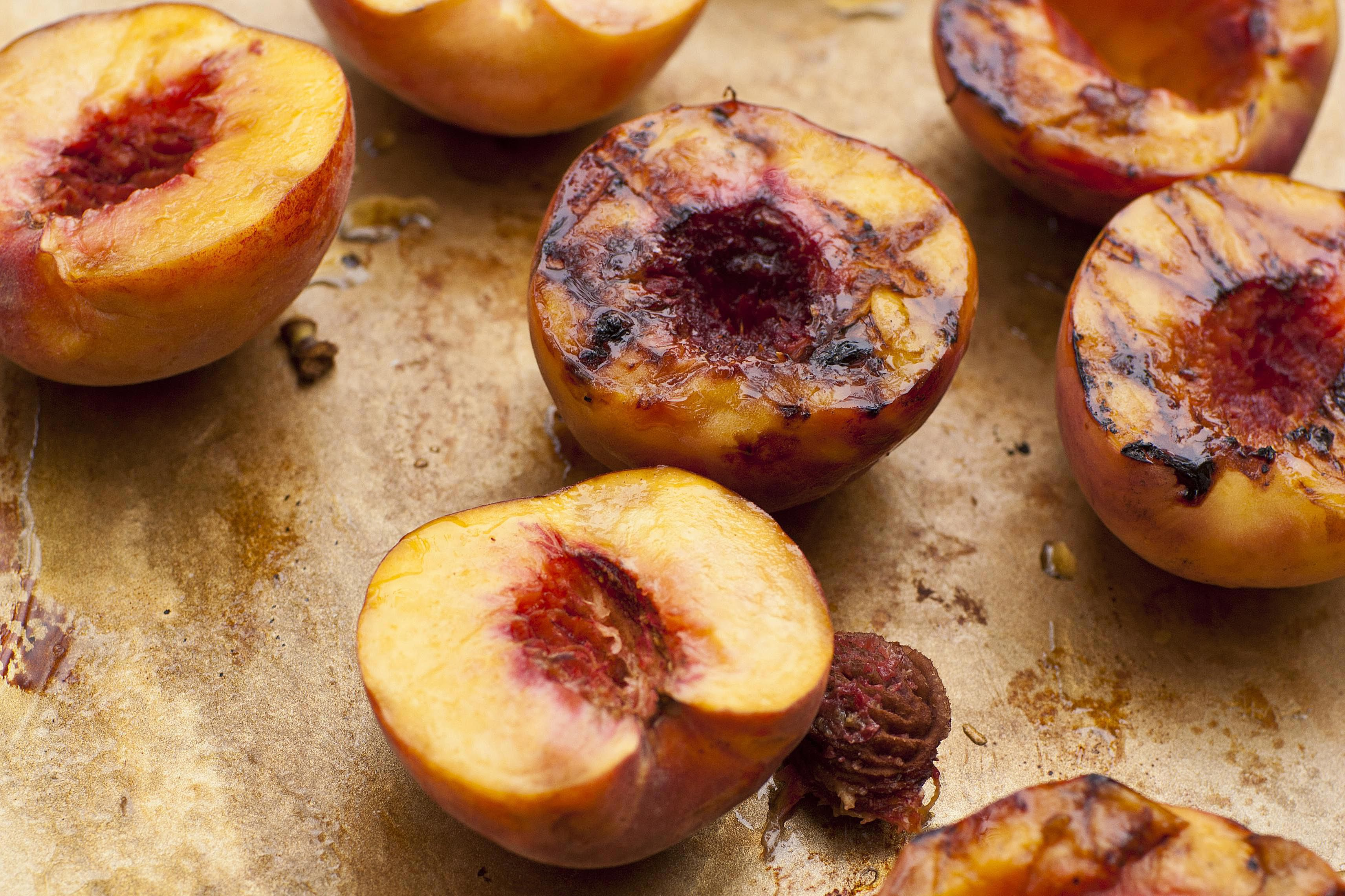 Grilled Fresh Peaches Side Dish Recipe