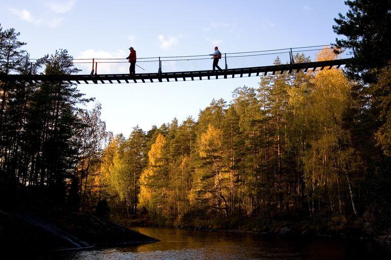 A suspension bridge