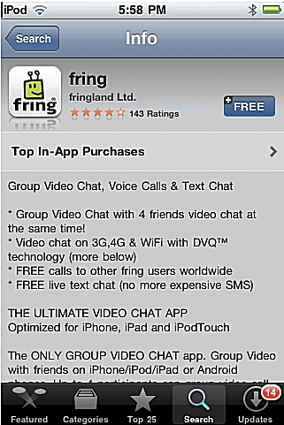 Fring Download for iPhone