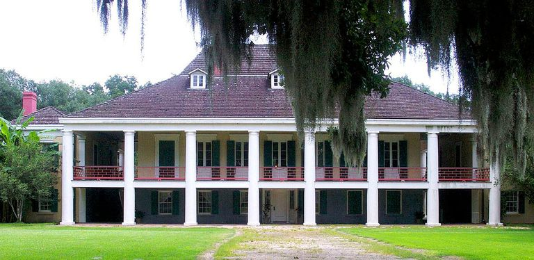 Destrehan Plantation House near New Orleans, constructed 1787-1790