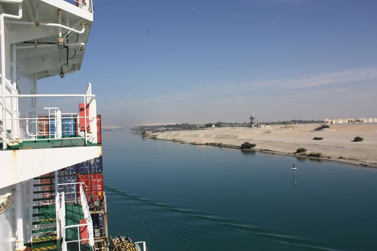 Ship on suez canal