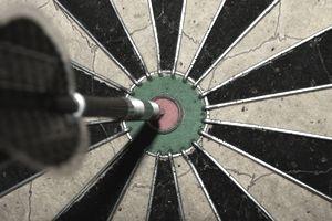 Bullseye on dart board