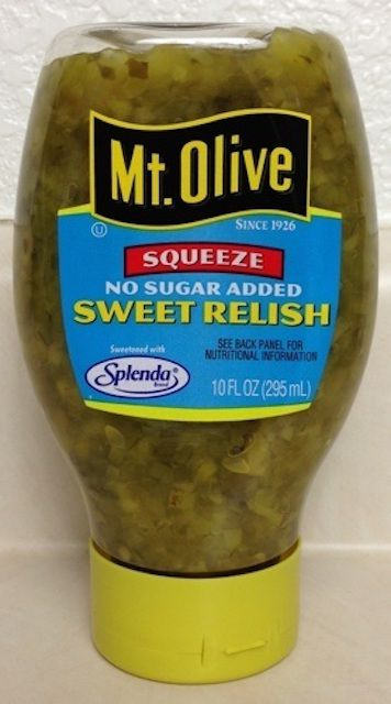 Mt. Olive No Sugar Added Pickles and Relish.