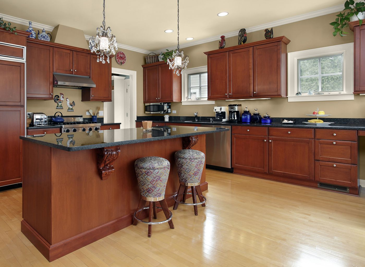 kitchen colors with brown cabinets.  Paint Color Suggestions for Your Kitchen