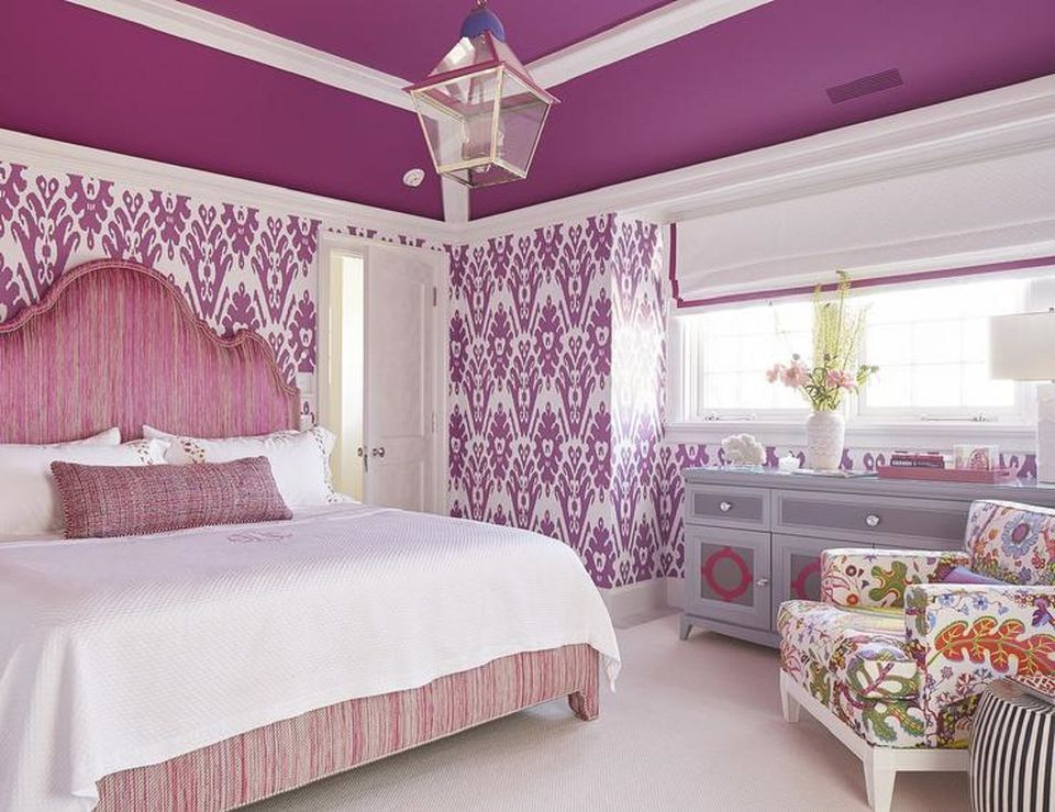 Purple bedrooms tips and photos for decorating for Purple and pink bedroom ideas