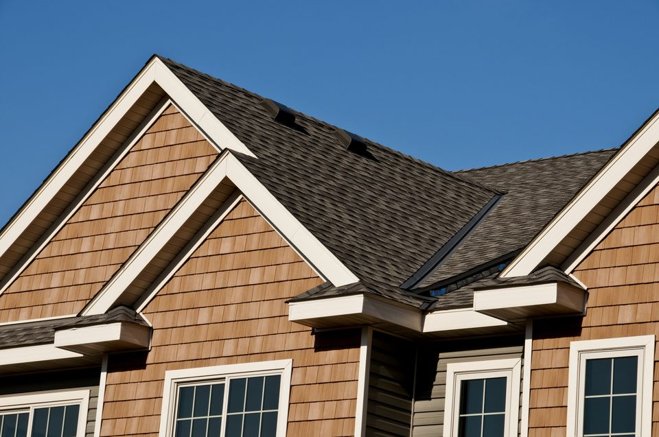 Modern house roof