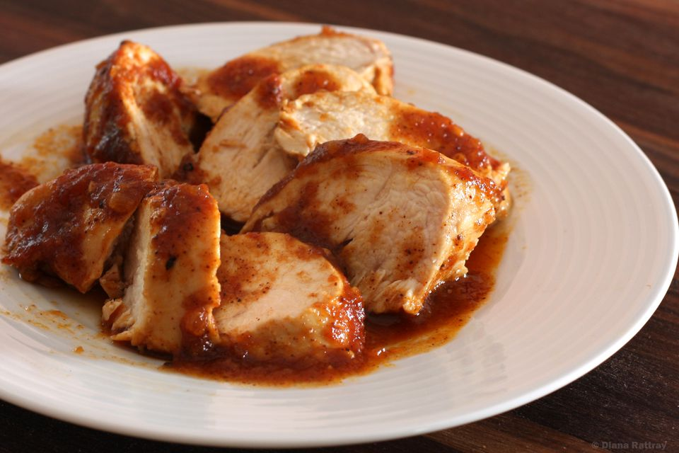 Baked Barbecued Chicken Breasts