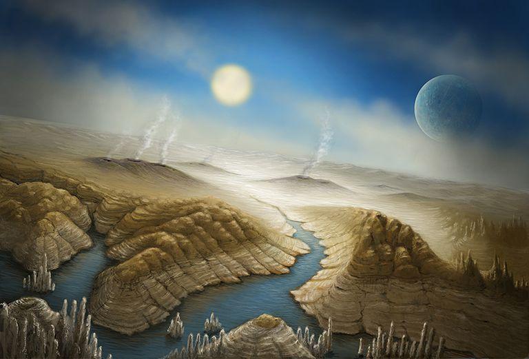 Ilustración de Kepler 452b
