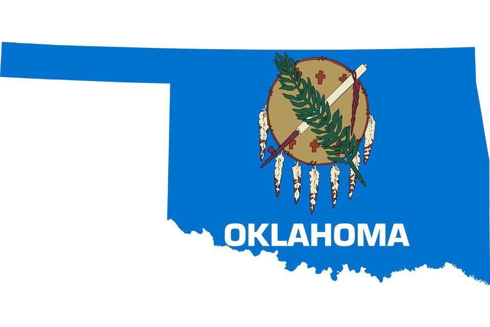 Oklahoma with Flag Image