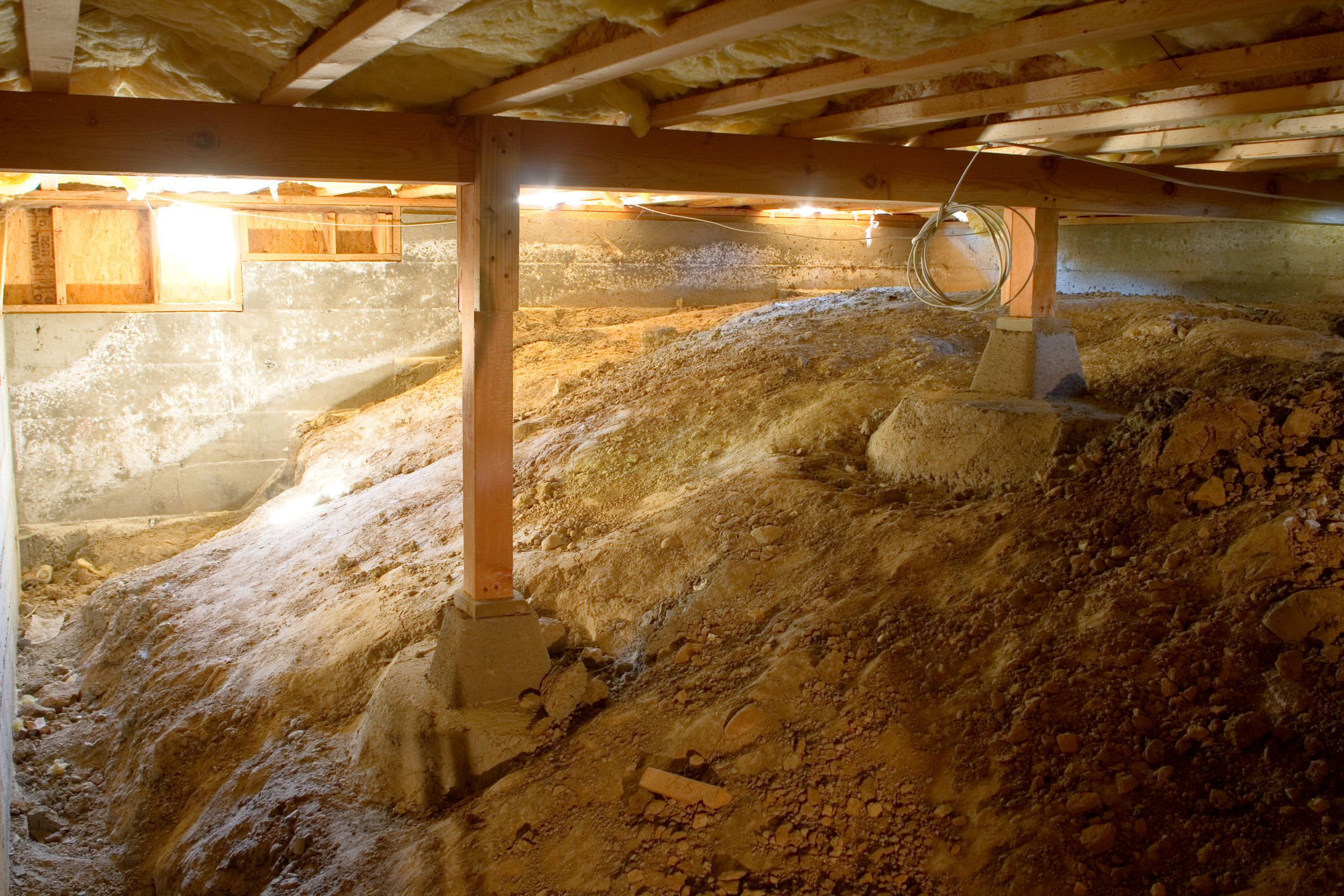 Water In Crawl Space Sources And Removal