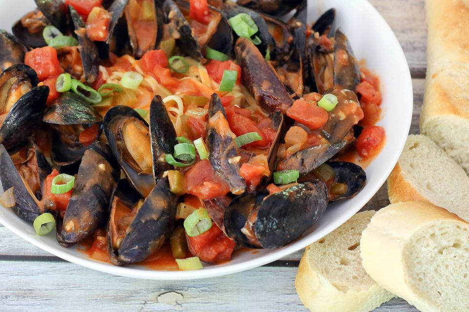 Louisiana Mussels with Pasta