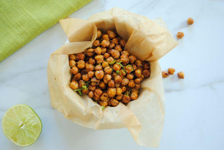 Cumin-Lime Roasted Chickpeas