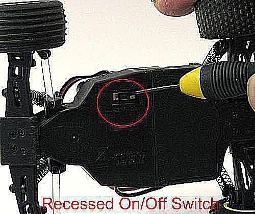 On/Off switch on bottom of Micro T