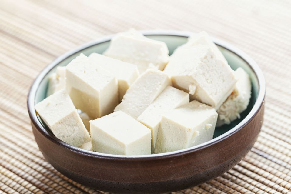 cubes of tofu