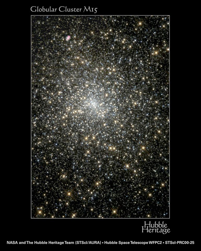 Black Holes Pictures Gallery - A Dying Star in Globular Cluster M15