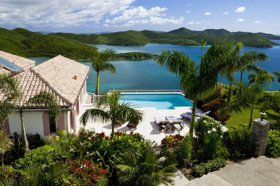 Caribbean villa in the Virgin Islands