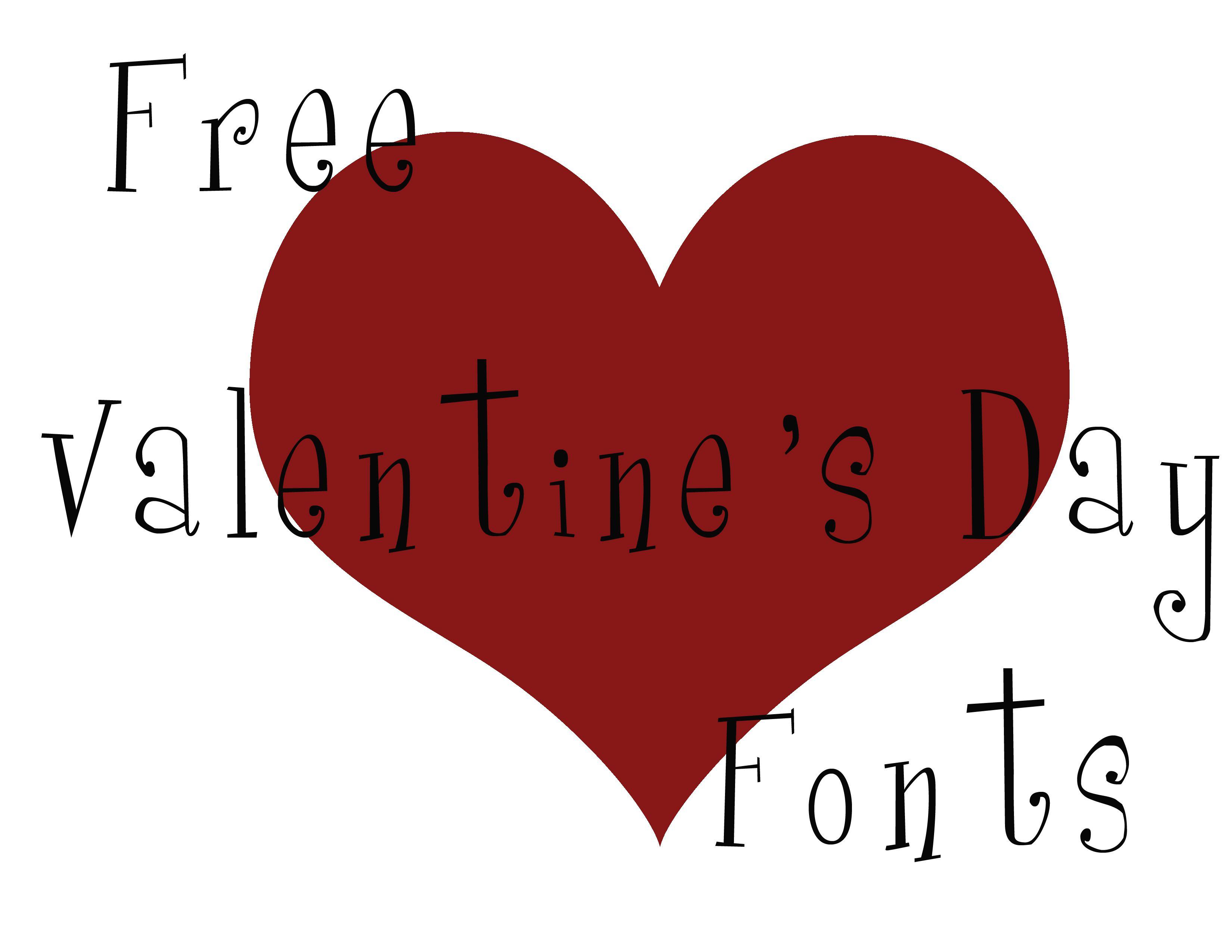 free valentine theme fonts