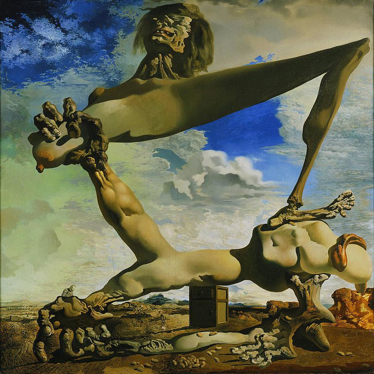 Salvador Dalí - Soft Construction with Boiled Beans (Premonition of Civil War), 1936
