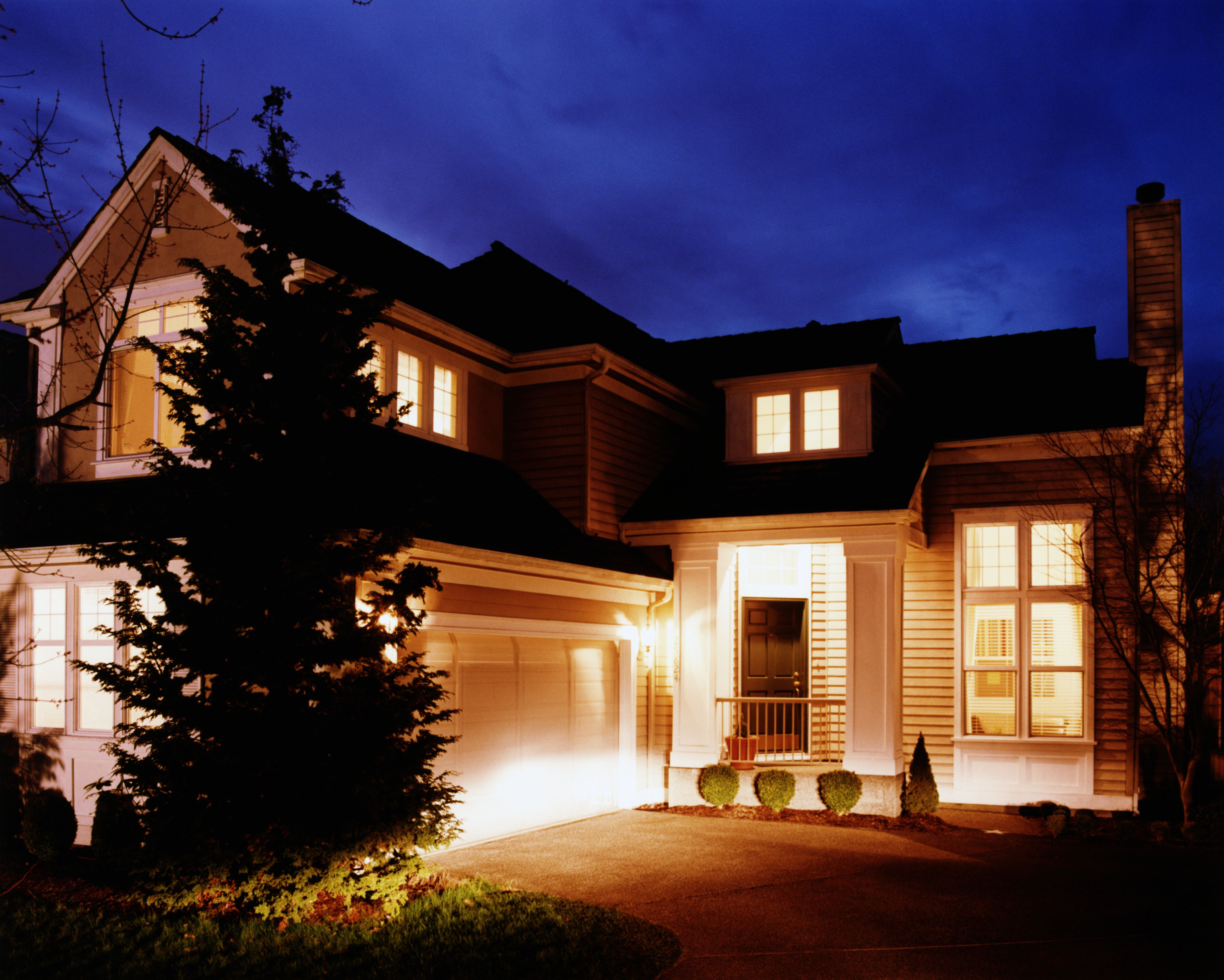 Beautiful In Ground Landscape Lighting