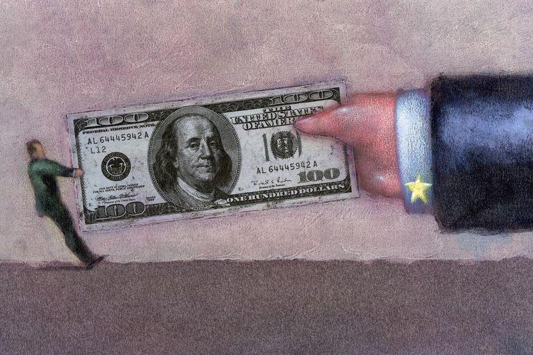 Tug of War with 100 Dollar Bill